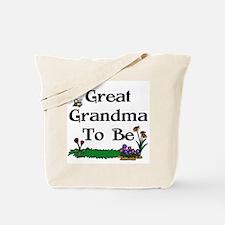 Great Grandma To Be Gardener Tote Bag