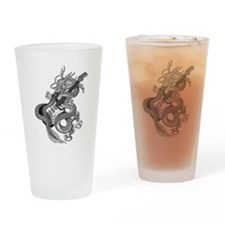 Dragon guitar 2 Drinking Glass