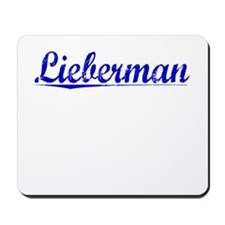Lieberman, Blue, Aged Mousepad