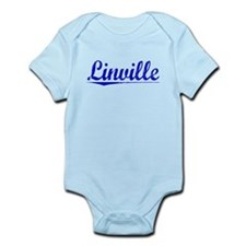 Linville, Blue, Aged Infant Bodysuit