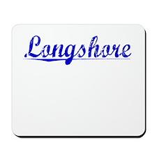 Longshore, Blue, Aged Mousepad