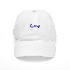 Ludwig, Blue, Aged Baseball Cap