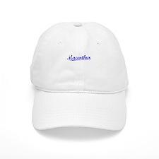 Macarthur, Blue, Aged Baseball Cap
