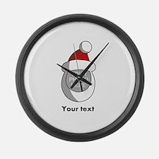 Personalized Santa Christmas Large Wall Clock
