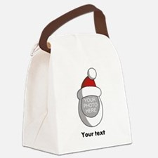 Personalized Santa Christmas Canvas Lunch Bag
