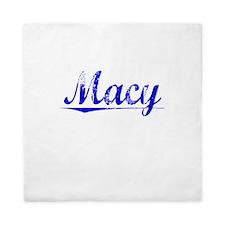 Macy, Blue, Aged Queen Duvet