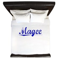 Magee, Blue, Aged King Duvet