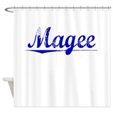 Magee, Blue, Aged Shower Curtain