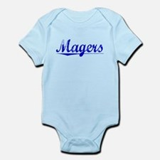Magers, Blue, Aged Infant Bodysuit