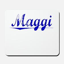 Maggi, Blue, Aged Mousepad