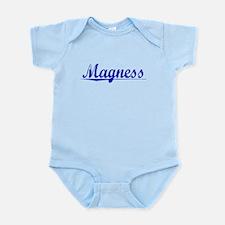 Magness, Blue, Aged Infant Bodysuit