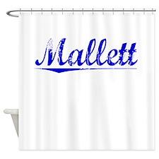 Mallett, Blue, Aged Shower Curtain