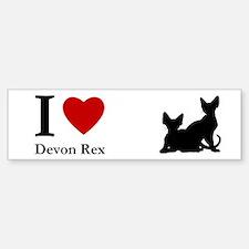I love Devon Rex Bumper Car Car Sticker