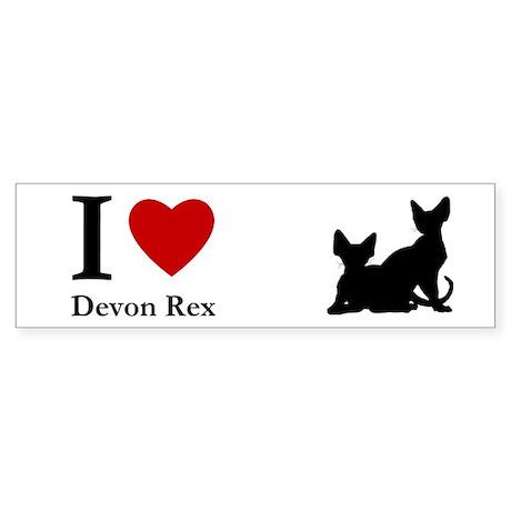 I love Devon Rex Bumper Sticker