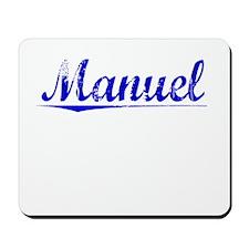 Manuel, Blue, Aged Mousepad