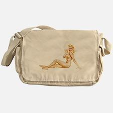 The Pin Up Girl. Messenger Bag