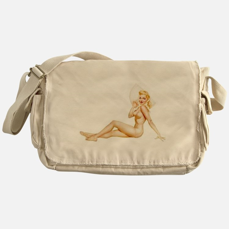 The Pin Up Girl. Messenger Bag