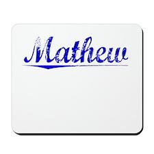 Mathew, Blue, Aged Mousepad