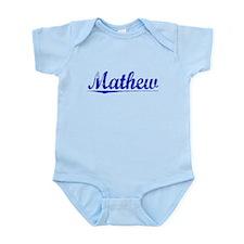 Mathew, Blue, Aged Infant Bodysuit