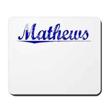 Mathews, Blue, Aged Mousepad