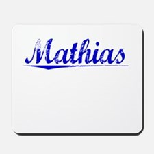 Mathias, Blue, Aged Mousepad