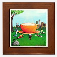 Coffee Is God Framed Tile