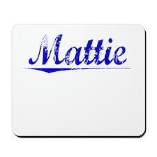 Mattie, Blue, Aged Mousepad