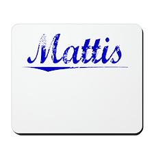 Mattis, Blue, Aged Mousepad