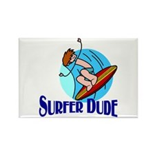 Surfer Dude Rectangle Magnet