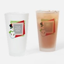 Personalized Christmas Drinking Glass