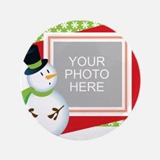 """Personalized Christmas 3.5"""" Button"""