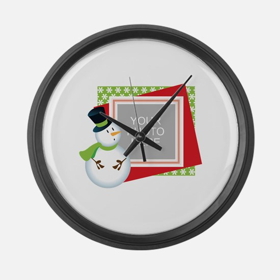 Personalized Christmas Large Wall Clock
