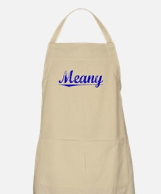 Meany, Blue, Aged Apron