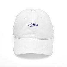 Melton, Blue, Aged Baseball Cap