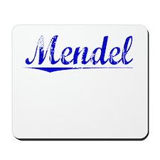 Mendel, Blue, Aged Mousepad