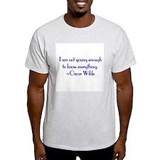 Wilde - not young enough Ash Grey T-Shirt