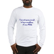 Wilde - not young enough Long Sleeve T-Shirt