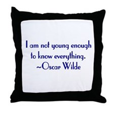 Wilde - not young enough Throw Pillow