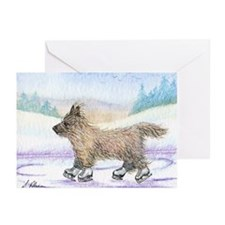 Cairn Terrier ice skater Greeting Cards (Pk of 20)