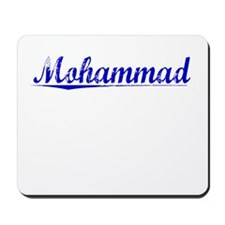 Mohammad, Blue, Aged Mousepad