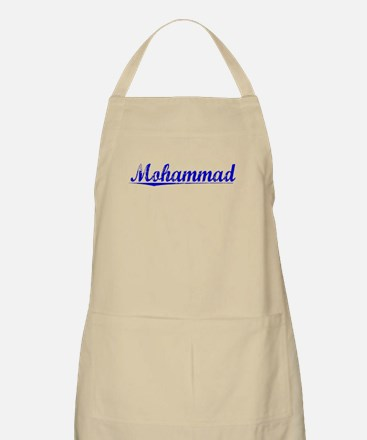 Mohammad, Blue, Aged Apron