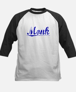 Monk, Blue, Aged Kids Baseball Jersey