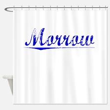 Morrow, Blue, Aged Shower Curtain