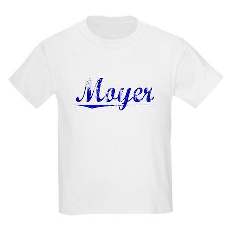 Moyer, Blue, Aged Kids Light T-Shirt