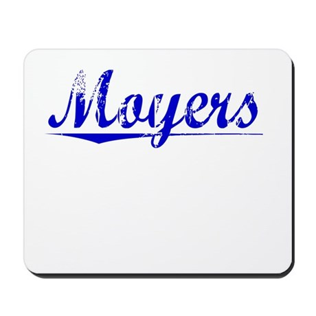 Moyers, Blue, Aged Mousepad