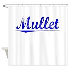 Mullet, Blue, Aged Shower Curtain