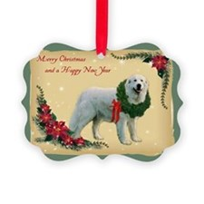 Great pyrenees Ornament - Merry Christmas