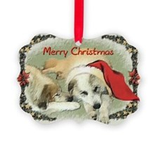 Great Pyrenees Picture Ornament - Two Pyrs