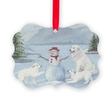 Great Pyrenees Ornament - Winter Fun