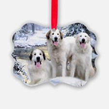 Great Pyrenees Ornament - 3 Pyrs